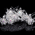 10PCS Retail Delicate Pretty Wedding Bridal Crystal Flower Hair Pin Wedding Tiara