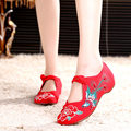 Spring Summer Casual Chinese Retro Style Women Shoes Flats  Fashion Vintage Embroidery Chineseknot Flat Flower Casual Shoes