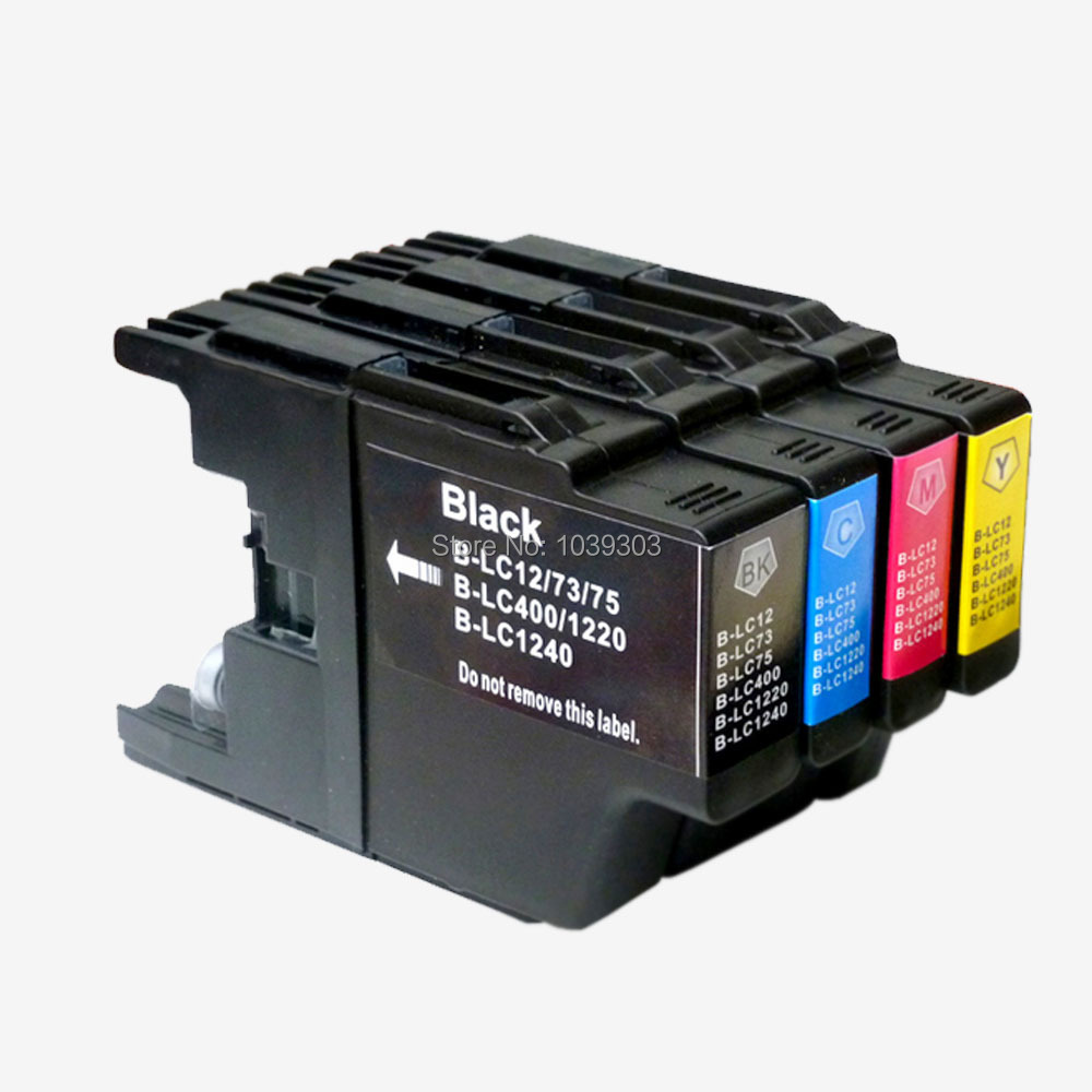 4PK LC1240 <font><b>LC1280</b></font> LC75 LC73 LC77 LC79 LC12 LC17 LC450 LC400 compatible inkjet ink cartridge for brother DCP-J940N-W image