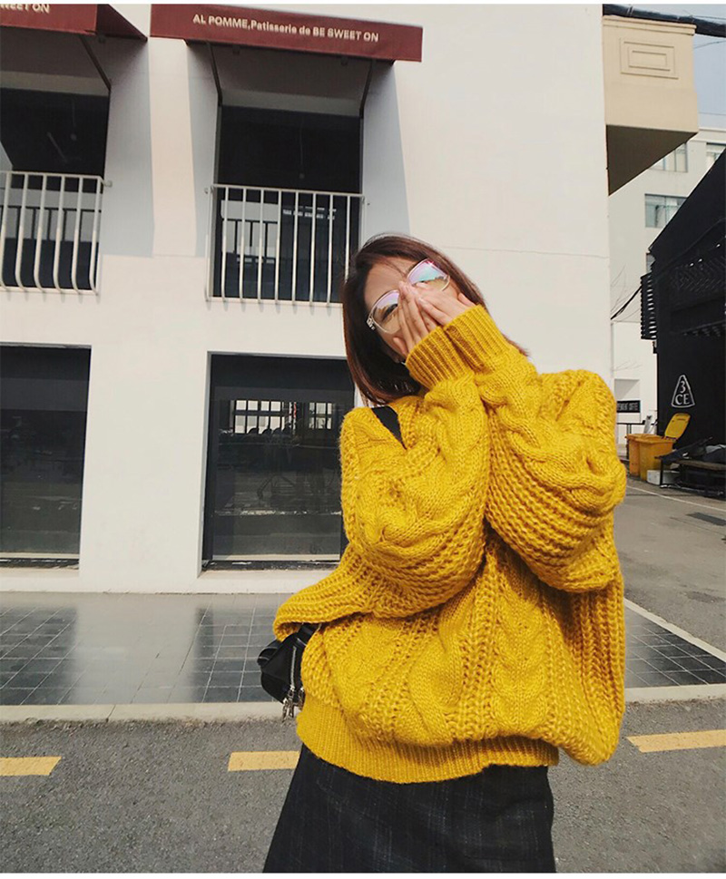de011d7845b808 Ordifree 2019 Autumn Winter Oversized Women Sweater Jumper Knitted Pullover  Thick Warm Turtleneck Sweater Pull Femme 7163123323 ...