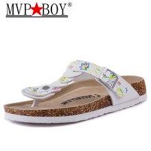MVP BOY 2018 Summer Soft Foam Cork Sandals Slippers Women Lovers Beach Shoes Flats Slip On Sandalias Zapatos Mujer Hombre