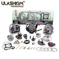 GY6 50 80 100 39mm 47mm 50mm 139qmb 139qma Cylinder Kit Head CVK Carburetor Intake Camshaft Variator Rollers Starter Gear Gasket