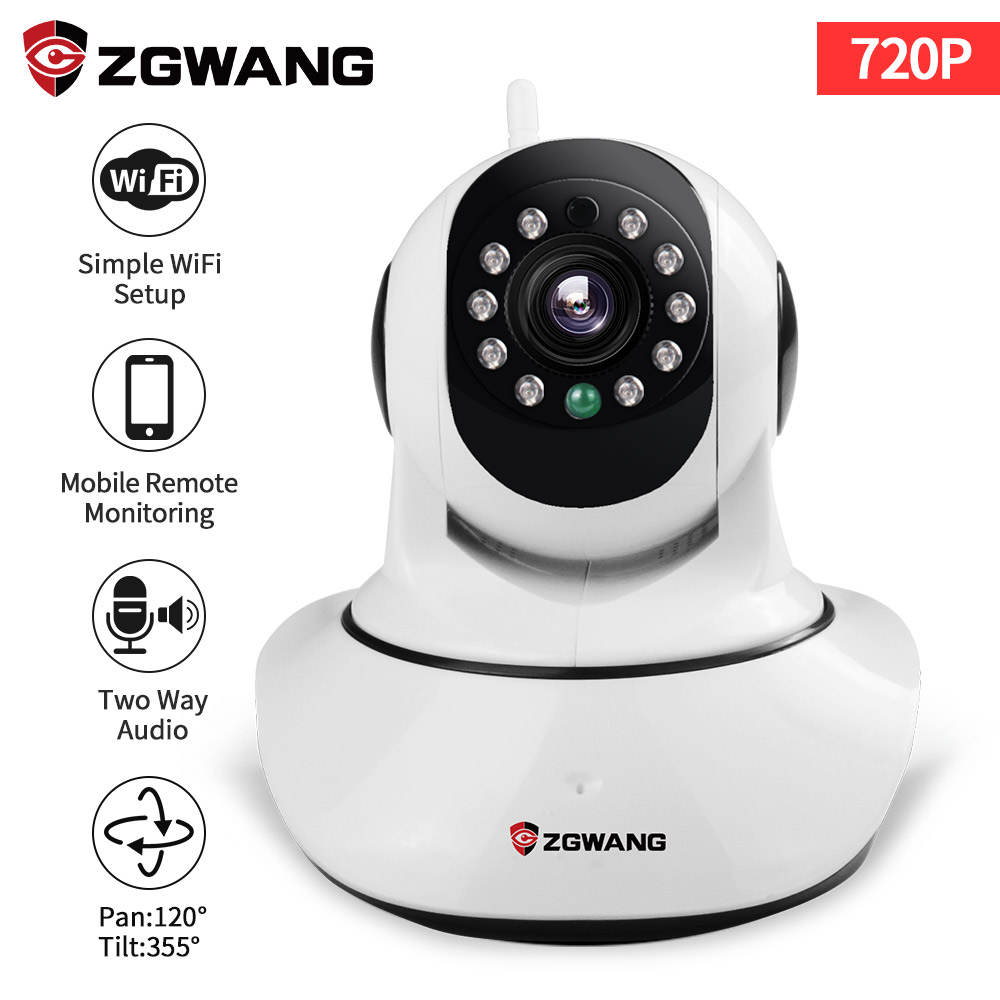 ZGWANG 720 p CCTV Caméra IP HD WIFI 1080 p Infrarouge caméra de Sécurité Détection De Mouvement Home Security 360 vidéo Caméra ip cam