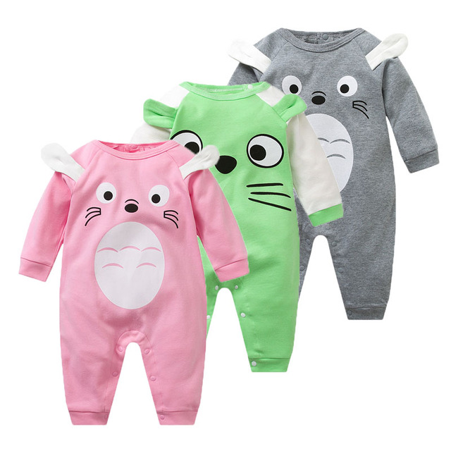 3516fce03 Cotton Baby Rompers Spring Baby Boy Clothes Cartoon Baby Girl ...