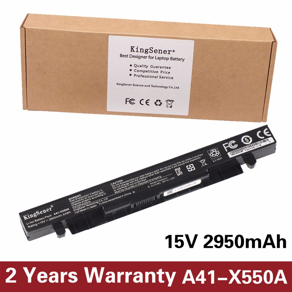 15V 2950mAh Korea Cell New A41-X550A Laptop Battery for ASUS A41-X550 X450 X550 X550C X550B X550V X550D X450C X550CA 4CELL 6cells 6cells laptop battery for asus x301a x301u x401 x401a x401u x501 x501a x501u a31 x401 a32 x401 a41 x401 a42 x401