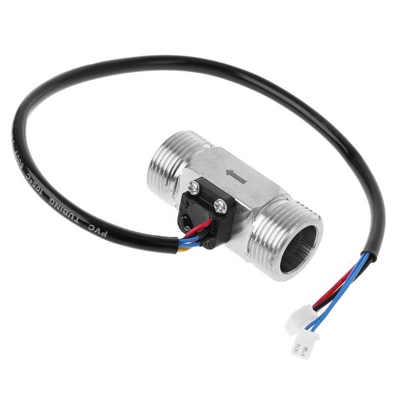 Stainless Steel G3/4 Water Flow Meter With NTC Temperature Measurement Digital Hall Effect Flowmeter Turbine Flow Sensor