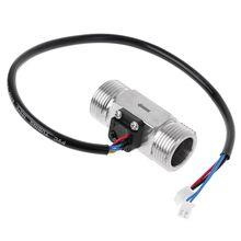 Расходомер воды из нержавеющей стали G3/4 с NTC измерением температуры, цифровой расходомер с эффектом холла, Турбинный датчик расхода