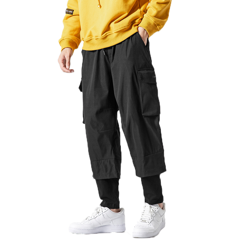 Pant Men Joggers Harem Casual-Trousers Street-Punk Black Male Multi-Pocket Hip-Hop M-5XL