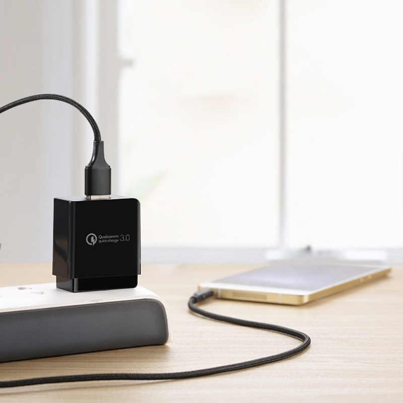 شاحن يو اس بي سريع الشحن 3.0 18 واط USB شاحن السفر المحمولة محول حائط الولايات المتحدة التوصيل لسامسونج غالاكسي S8 S9 آيفون ل شاومي