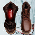 Natural Wool Men Snow Boots Size 38-48 Warmest Genuine Leather Russian Style Men Winter Boots #0268