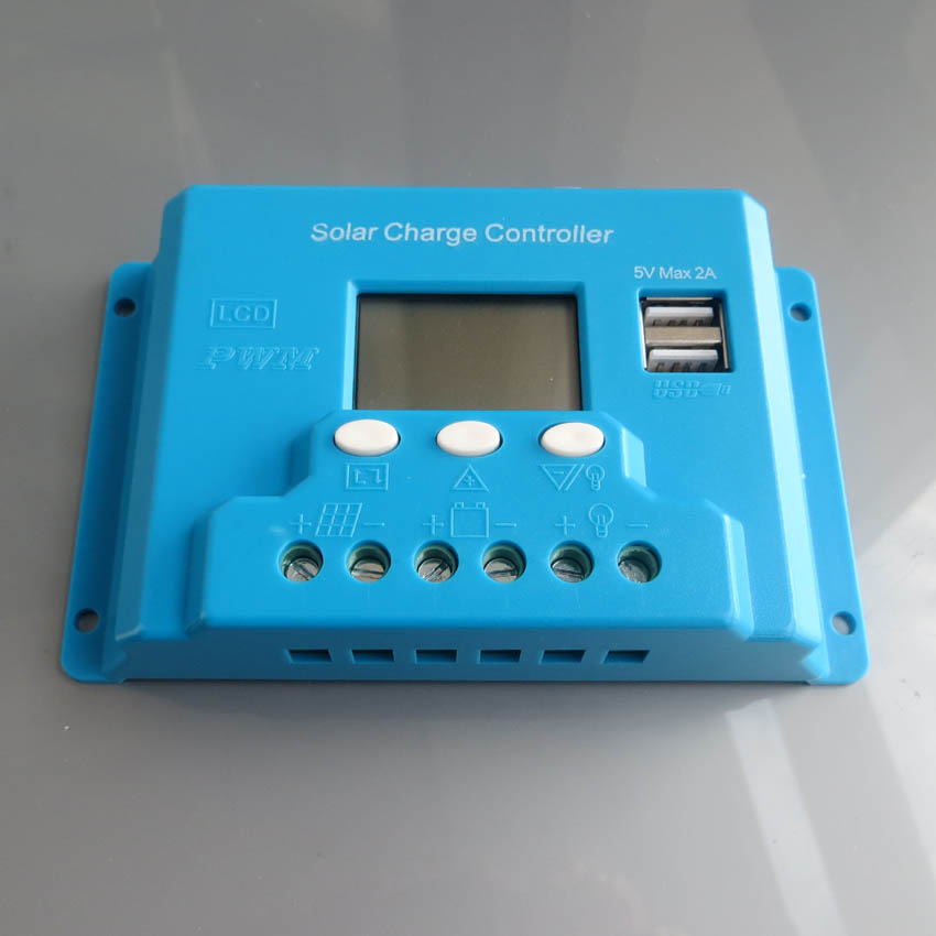 20A 48V LCD liquid crystal display USB phone 5V solar battery car battery charge and discharge controller yppd j015b lg lcd liquid crystal module