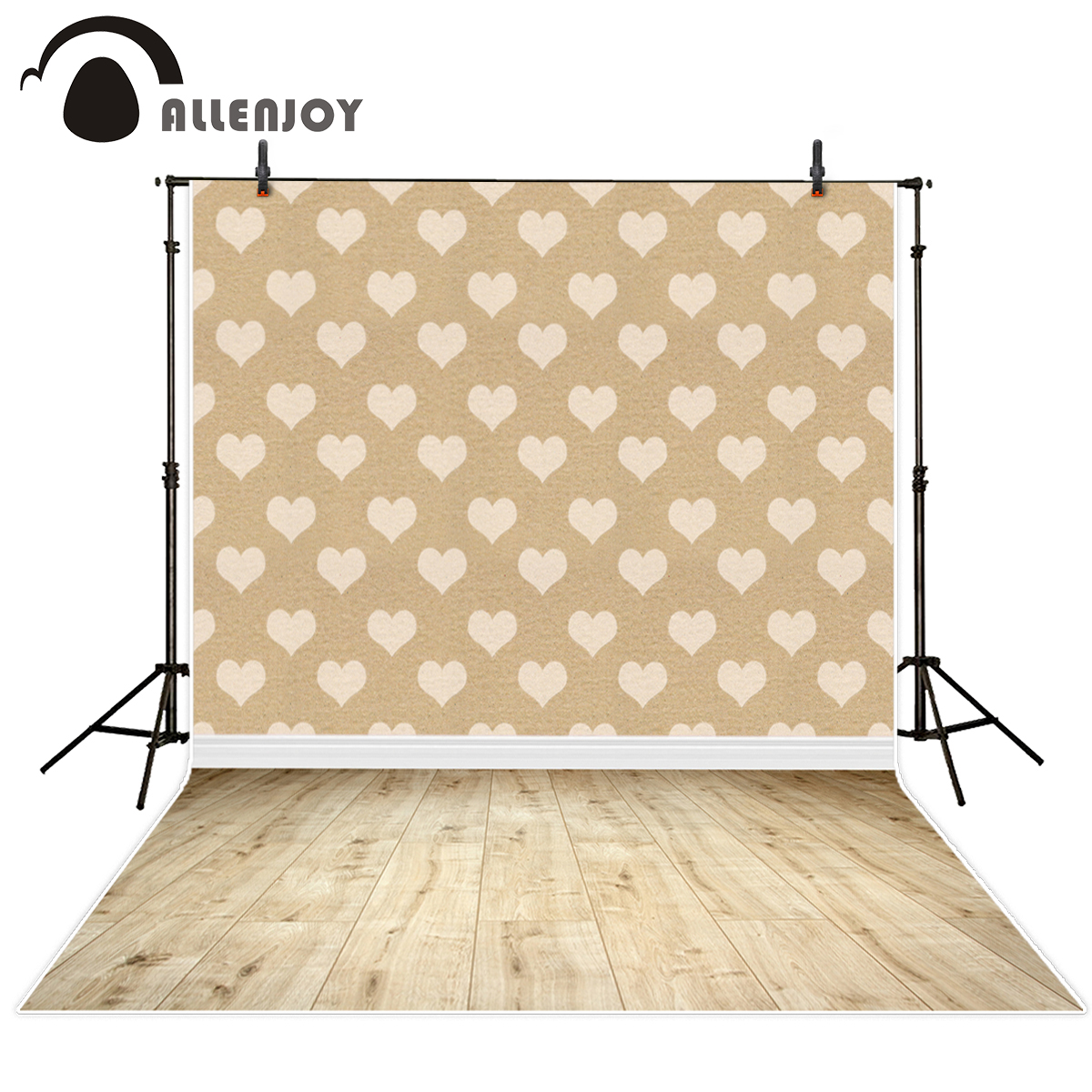 Allenjoy Vinyl cloth Photography Backdrops Valentine Gifts heart pattern brick wall Newborn lover Background for photo Studio valentine heart ballon pattern love confession gifts night light