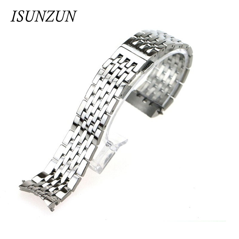 ISUNZUN Men's For T41 Locke T461 <font><b>PRC200</b></font> 1853 Watch <font><b>Strap</b></font> Watches Accessories Butterfly Buckle Watch Band Watchbands image