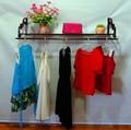 Roupas cabide rack de roupas de console de ferro de casamento