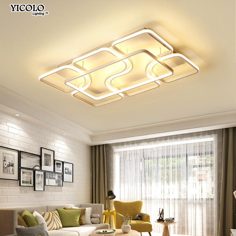 Surface mounted Ceiling Lights For Living Study Room Bedroom Home Dec plafonnier AC90-260V Modern remote control Lamp Home Decor surface mounted ceiling lights for living study room bedroom home dec plafonnier ac90 260v modern remote control lamp home decor