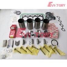 Комплект для ремонта двигателя для Isuzu 4LE2 поршень + поршневых колец + гильзы цилиндра + комплект прокладок + Коленвал подшипник + шатунный подшипник + клапан комплект