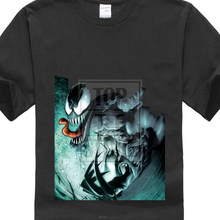 Camiseta preta s para 4xl da marvel venom men(China)