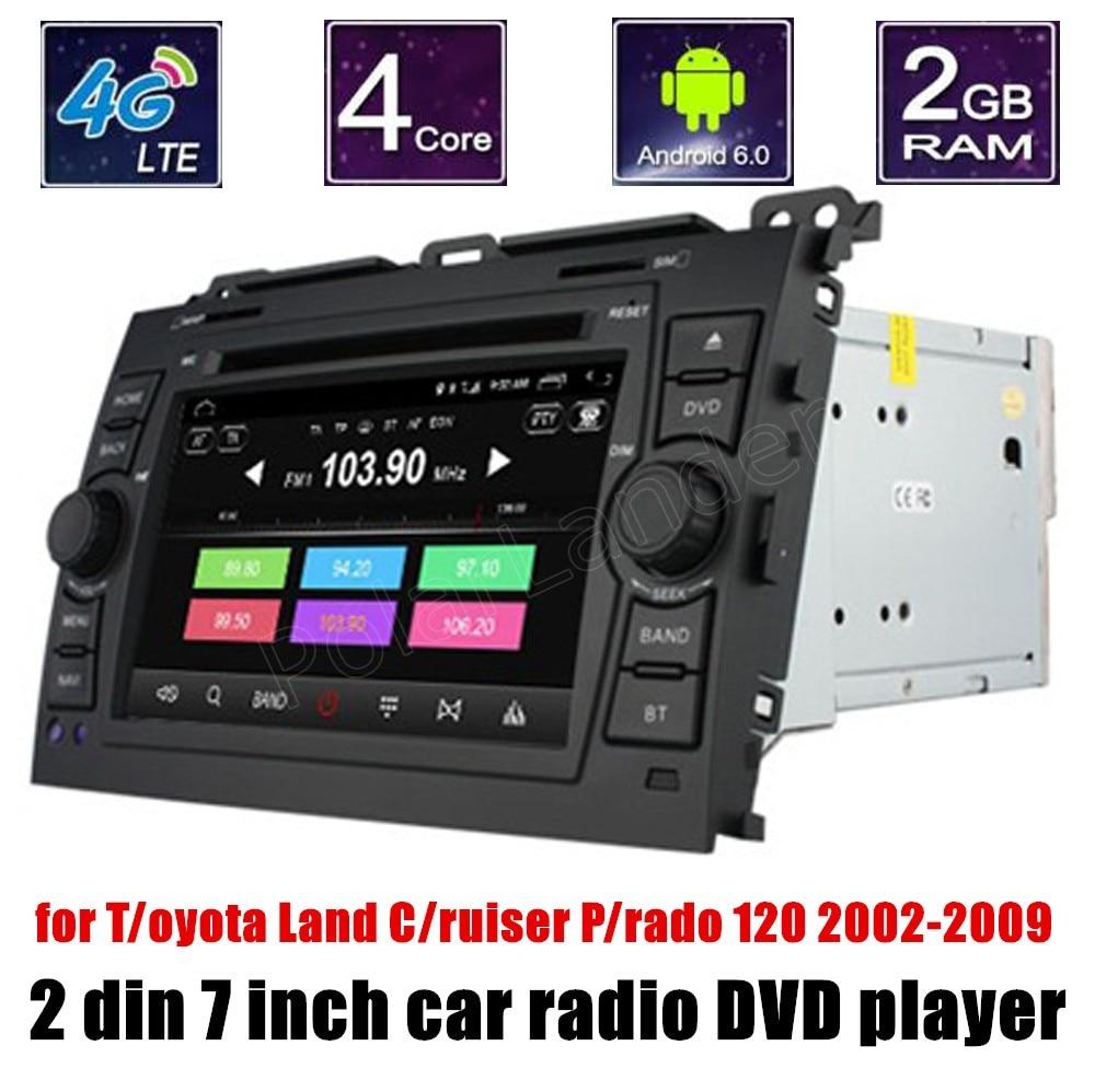 Quad Core Android 6.0 Car DVD GPS Navigation for T/oyota Hilux VI/OS Old C/amry Pr/ado R/AV4 P/rado 2003-2008 Radio Player
