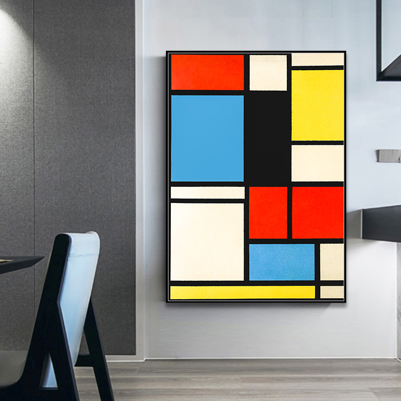 Piet-Cornelies-Mondrian-Classic-Art-Geometry-Line-Red-Blue-Yellow-Composition-Canvas-Print-Painting-Poster-Wall (4)
