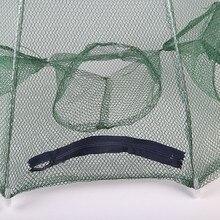 Automatic Folding 6 Hole Fishing Net Minnow Shrimp Cage Nylon Foldable Crab Fish Trap Cast Net Cast Fishing Network