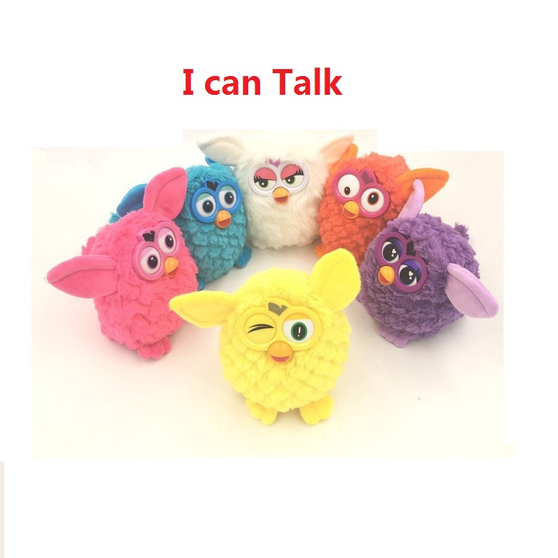 New Plush Interactive Toys phoebe 6 Color Electric Pets Owl Elves Plush toys Recording Talking Toys Gifts Furbiness boom