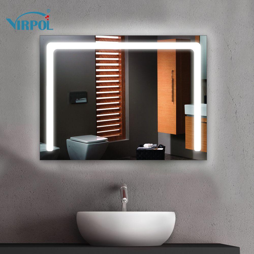 Baño Marco del espejo led iluminado baño espejo enmarcado espejos ...