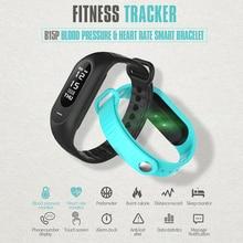 Smarcent B15P Смарт Браслет FitnessTracker Кровяное Давление Монитор Сердечного ритма Bluetooth 4.0 Смарт Браслет для Android ios