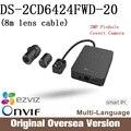 Hik DS-2CD6424FWD-20 8m lens cable Ip Came Cctv security camera English Version da hua 1080p Poe Onvif uk suppprt upgrade