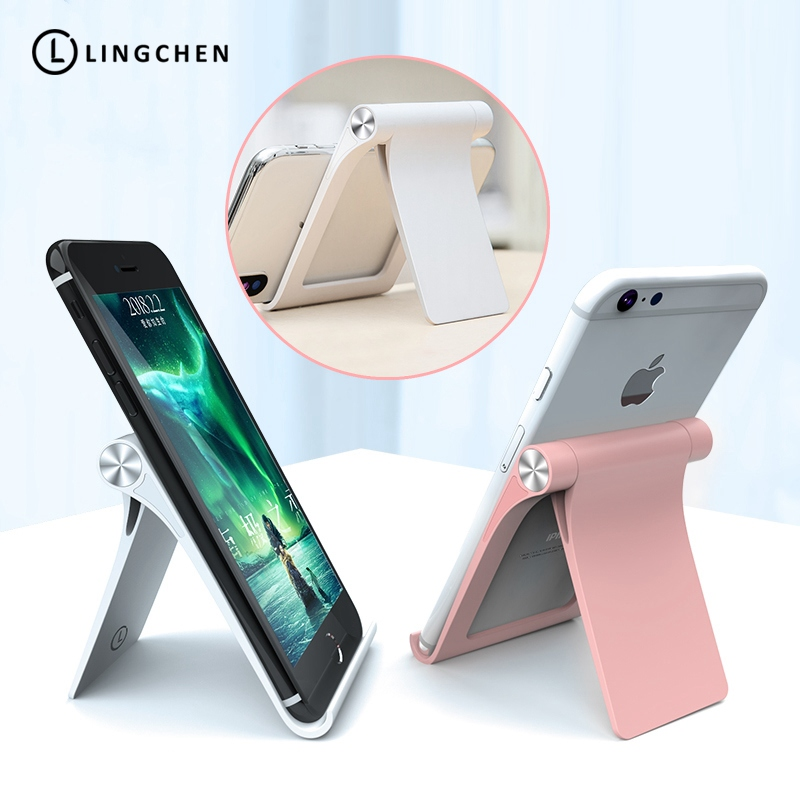 Universal Mobile Phone Holder For IPhone X 8 7 , LINGCHEN Foldable Tablet Stand Desk Holder Stand For Samsung Huawei For IPad