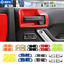 MOPAI ABS 4 двери автомобиля интерьер дверные ручки чаши украшения крышка отделка наклейки для Jeep Wrangler JK 2011 до стайлинга автомобилей
