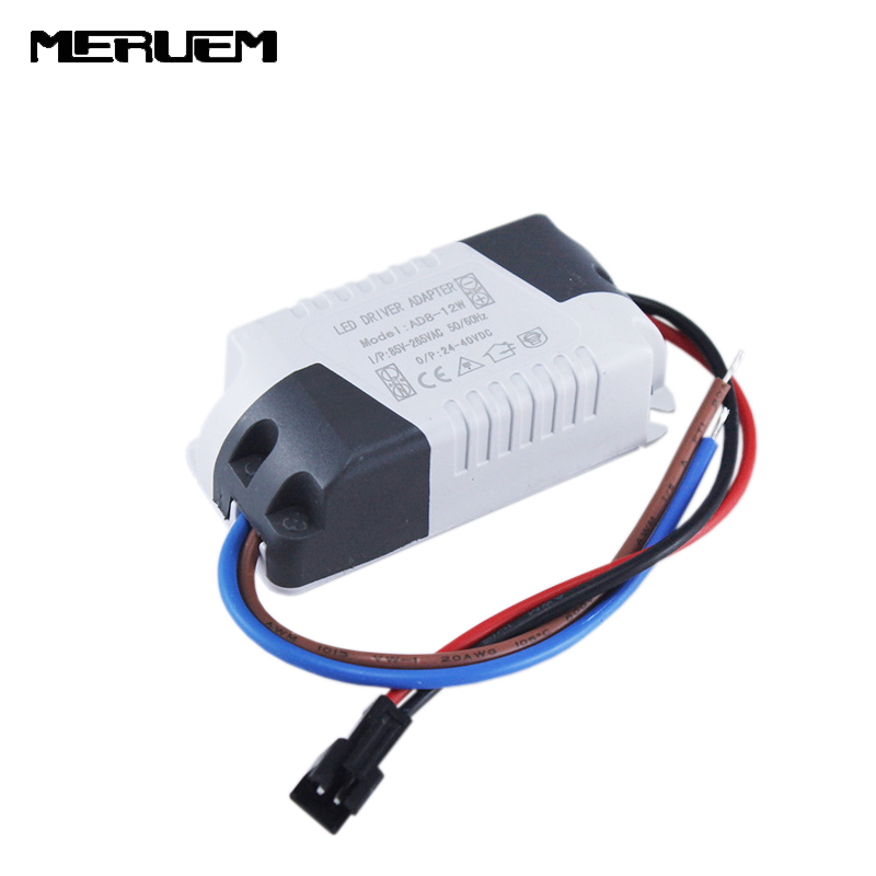 Free shipping 6pcs/lot High Quality 300mA LED Driver 8W-12W * 1W Lighting Transformer Power Supply for LED Lihgt Lamp Durable free shipping 50pcs lot b0505s b0505s 1w sip4 best quality