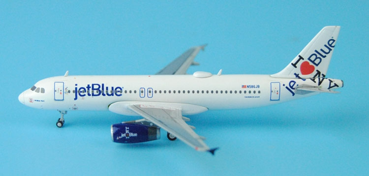 Gemini Jets 1: 400 GJJBU1545 US JetBlue A320-200 N586JB Alloy aircraft model Favorites Model