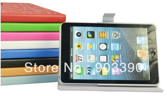 Wholesale New Cute little witch smart protective PU leather case for Apple iPad mini 10pcs/lot free shipping by DHL