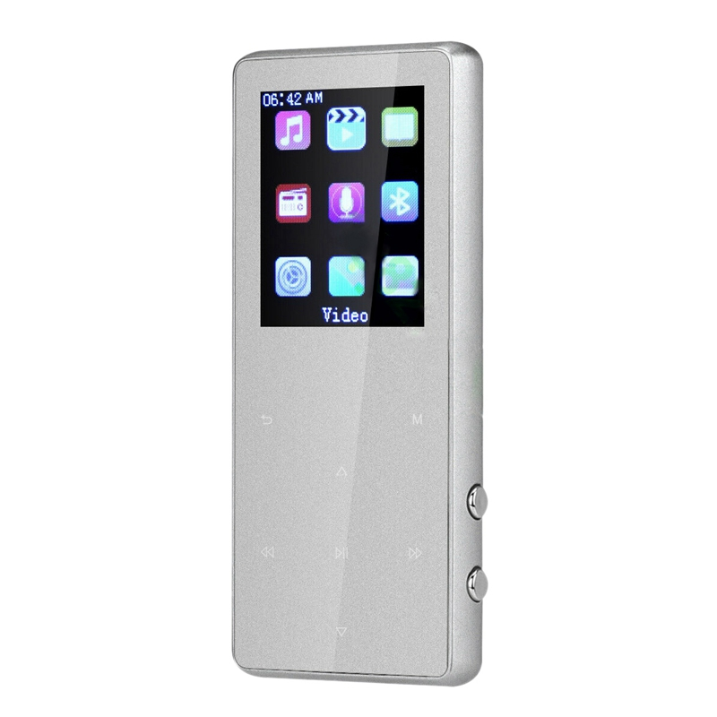 Portable Bluetooth Mp3 Music Player With Fm Speaker Hi-Fi Lossless Up To 128Gb