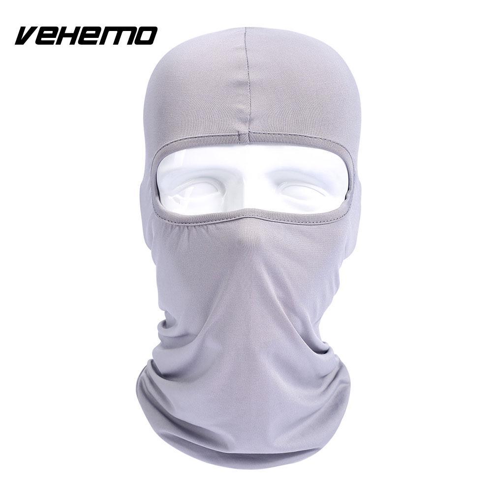 Vehemo аксессуары для улицы полная мотоциклетная маска для защиты лица шапки унисекс 14 цветов Практичная Балаклава лайкра защита удобный - Цвет: light gray