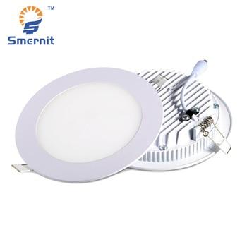Panel LED Downligh 3 w 6 w 12 w 18 w AC165-265V lámpara ultrafina luz LED empotrada redonda luz de techo 220 V abajo de la luz