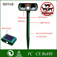 High Quality Green Garden Cat Dog Pest Repeller Solar Power Ultra Sonic Scarer Frighten Animal Repellent