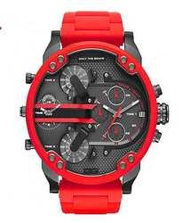 Роскошные часы для мужчин водостойкие Sonia Amarilla Dual Time дисплей Кварцевые наручные часы с нержавеющая сталь Группа Кварцевые наручные часы