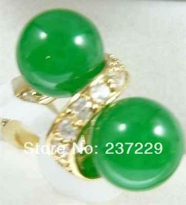 การจัดส่งสินค้าราคาขายส่ง^^^^ฟรุ๊ตตี้T Wineลูกกลมสีเขียวหยกสีขาวคริสตัลฝัง18KGPผู้หญิงแหวนพรหม