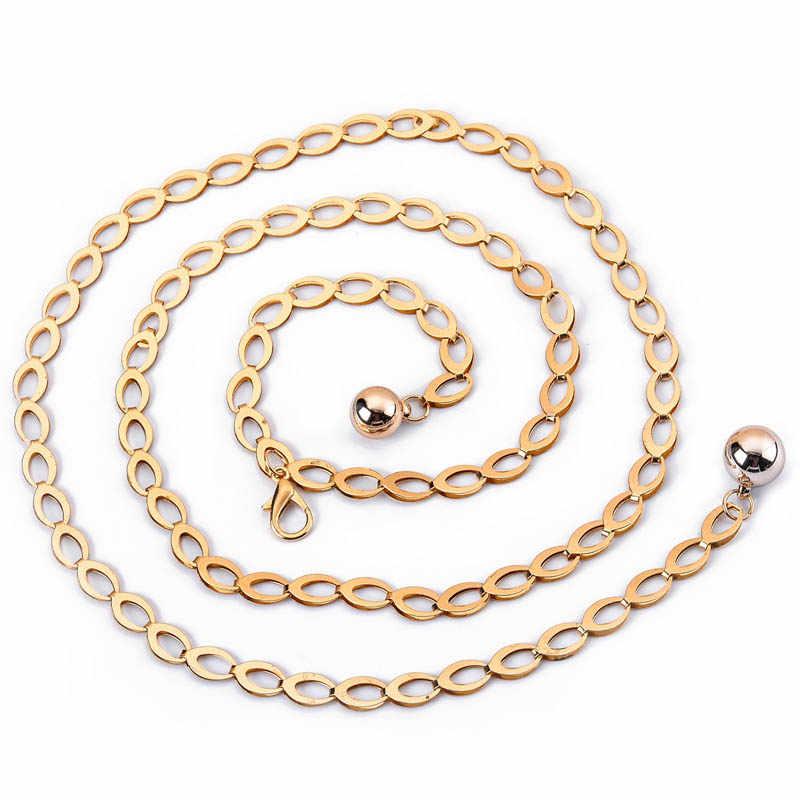 0db87497679dd ... CETIRI Korean Fashion Grace Golden Silver Girls Waist Chain Dress  Decoration O Ring Metal Belt Woman ...