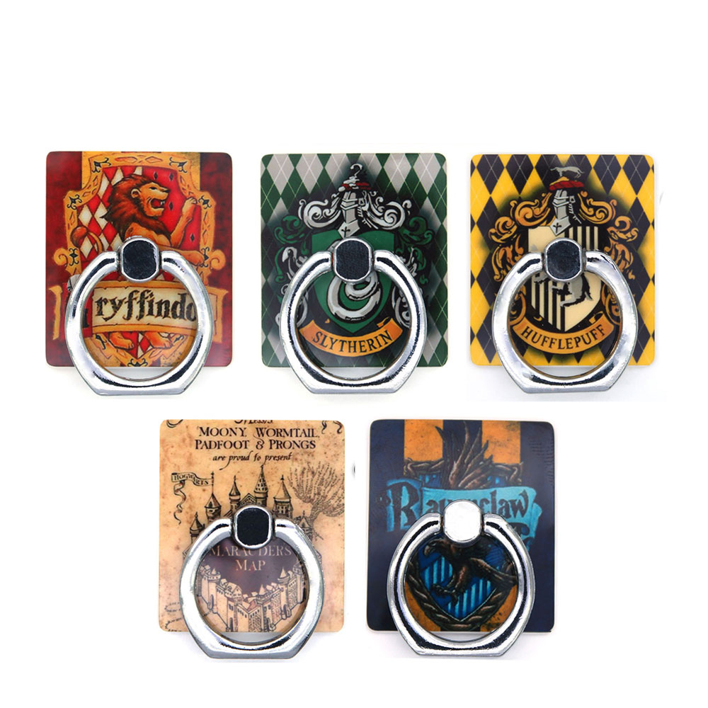 OHCOMICS Harri Potter HP Harry Gryffindor The Marauder's Map Square Ring Stand Mount Holder Stent Mobile Phone Paste Stents Gift