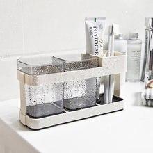 Набор чашек для зубной щетки в ванную комнату держатель подставка