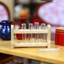 G06-X733 children baby gift Toy 1:12 Dollhouse mini Furniture Miniature rement Test tube rack 1pcs