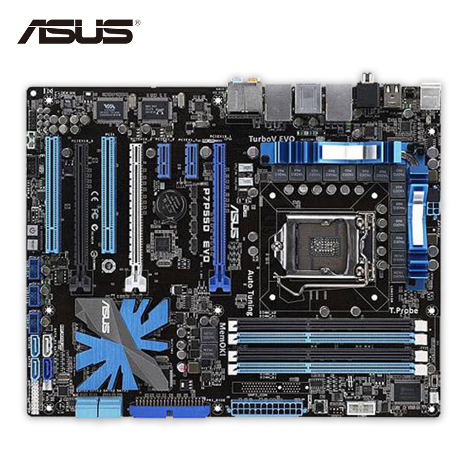 Asus P7P55D EVO Desktop Motherboard P55 LGA 1156 i5 i7 DDR3 16G SATA2 USB2.0 ATX sata festplatte 1tb 7 2k sata2 3 5 wd1000fyps
