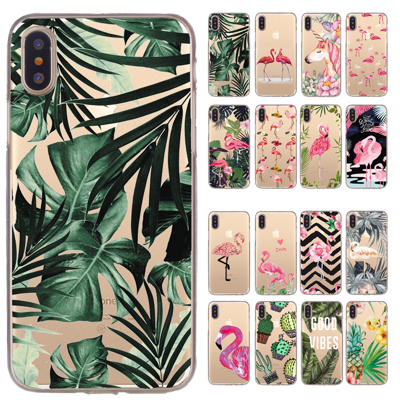 Phone Cases For iPhone 7 8 Plus Case For iPhone X XS 11Pro Max XR Case Cactus Soft Cover For iPhone 6 Case 6S 5 5S SE Capa
