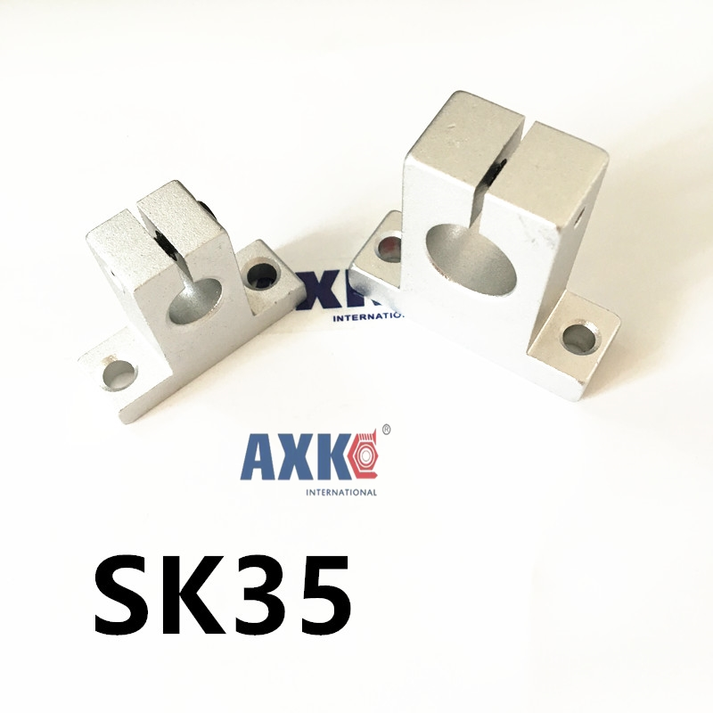 2pcs/lot Free Shipping SK35 35mm linear bearing rail shaft support XYZ Table CNC Router SH35A стоимость