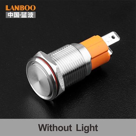 LANBOO производитель 16 мм 12V110V 24V 220V Светодиодный светильник с высоким током 10A мощный фиксатор мгновенный самоблокирующийся кнопочный переключатель - Цвет: Without Lamp