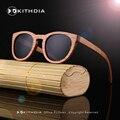 2017 NUEVO estilo De Madera De Bambú gafas de sol de Marca gafas de espejo lente Polarizada Du Madera gafas de sol de los hombres de moda las gafas de sol