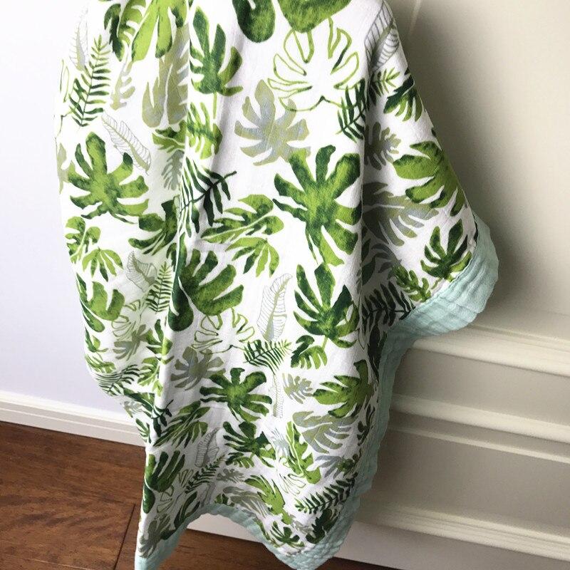 Quatre couche Bambou + 30% coton Bébé mousseline couvertures Langes Couvertures Nés ins Gaze infantile wrap sleepsack swaddleme serviette de bain