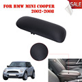 Sliding Top For BMW Mini Cooper R56 R50 R53 2002-2008 Black Leather Console Storage Box Arm Rest Pad Armrest Lid Cover #P520-1